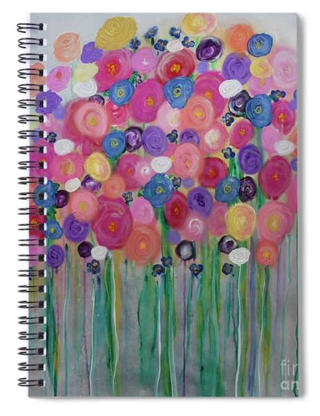 Floral Balloon Bouquet Spiral Notebook