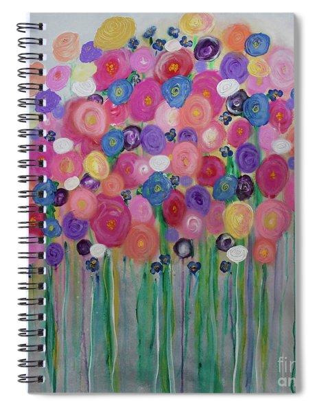 Floral Balloon Bouquet Spiral Notebook