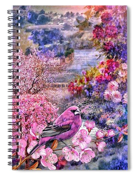 Floral Embedded Spiral Notebook