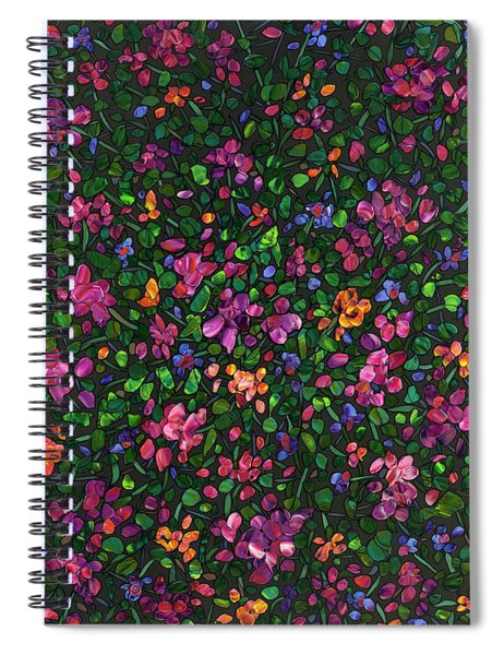 Floral Interpretation - Weedflowers Spiral Notebook