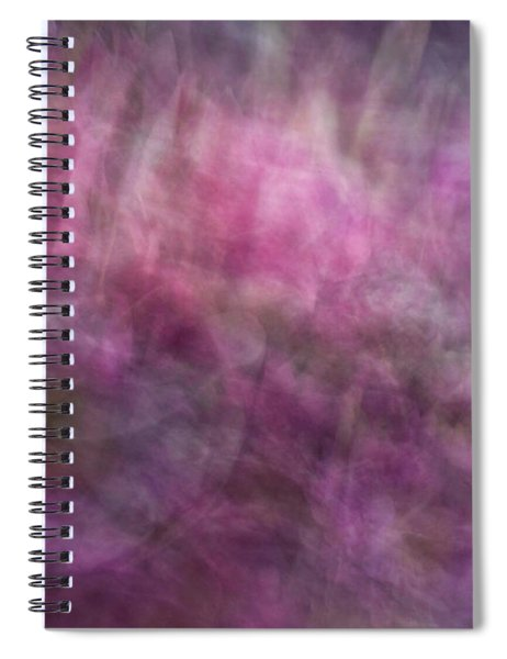 Floral Like Abstract Background Of Pinks, Purples And Green Patterned Artwork Spiral Notebook
