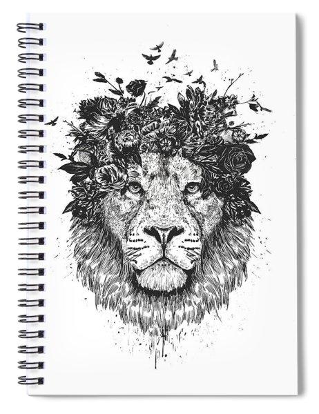 Floral Lion Spiral Notebook