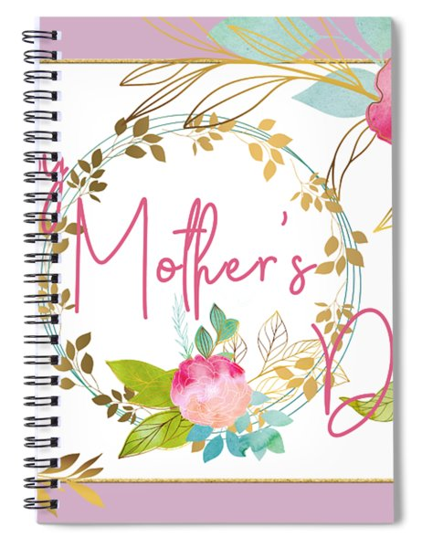 Floral Mother's Day Art Spiral Notebook