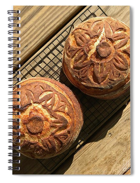 Floral Scored Sourdough Spiral Notebook