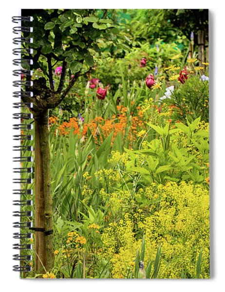 Florals In Yellow Spiral Notebook