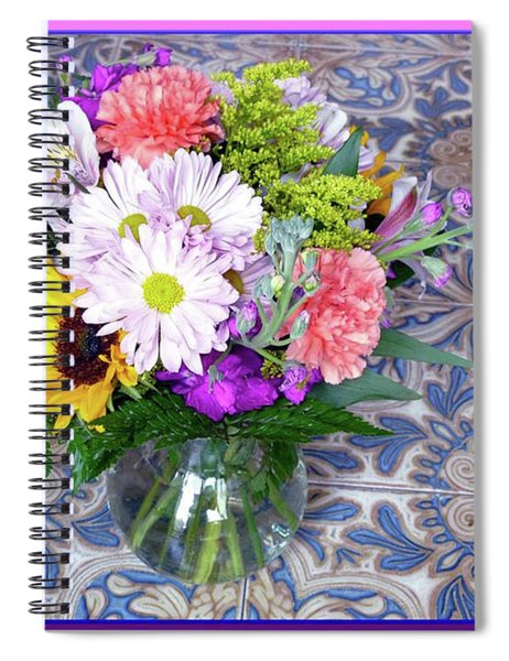 Flower Bouquet  Spiral Notebook