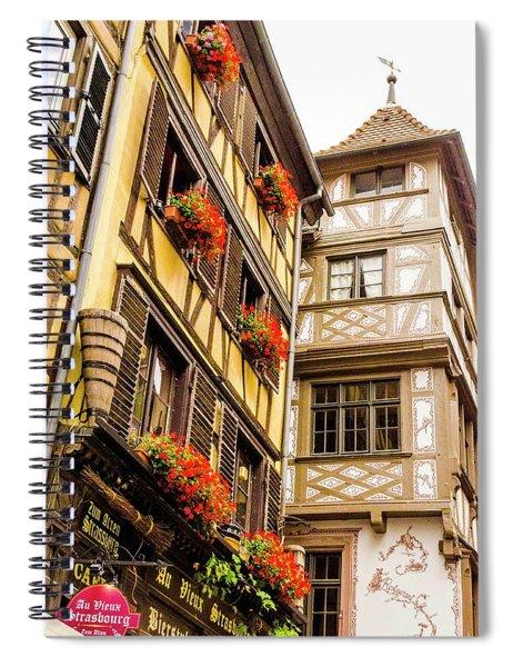 Flower Boxes Strasbourg Spiral Notebook
