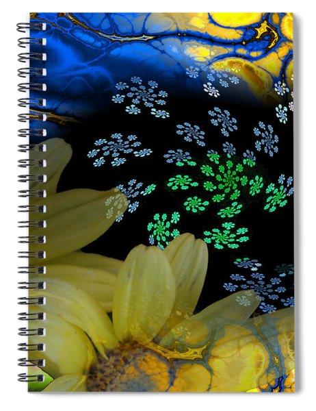 Flower Power In The Modern Age Spiral Notebook