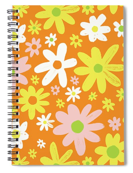 Flower Power Pattern Spiral Notebook