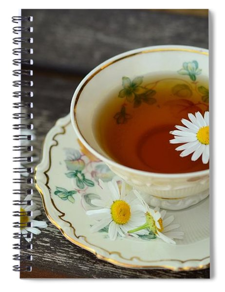 Flower Tea Spiral Notebook