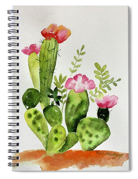 Flowering Cactus Spiral Notebook