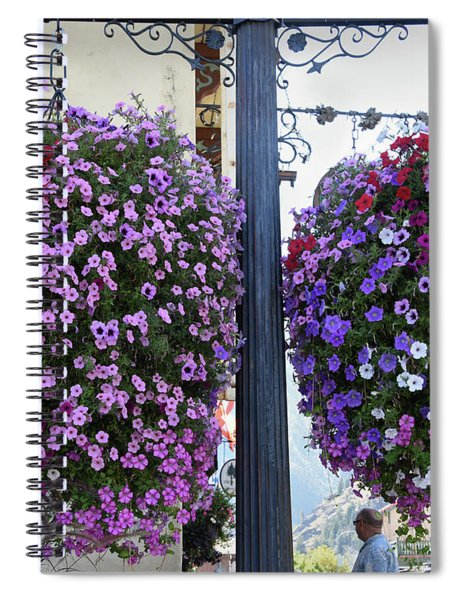 Flowers In Balance Spiral Notebook by Mae Wertz
