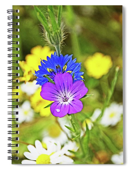 Flowers In The Meadow. Spiral Notebook