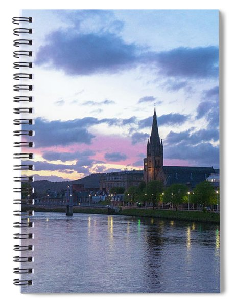 Flowing Down The River Ness Spiral Notebook