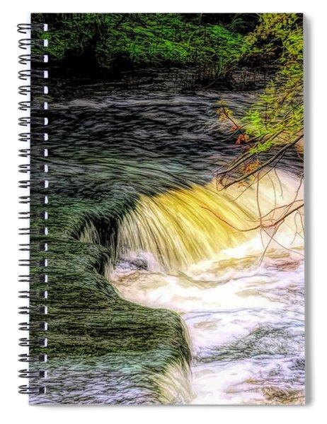 Flowing Water. Spiral Notebook