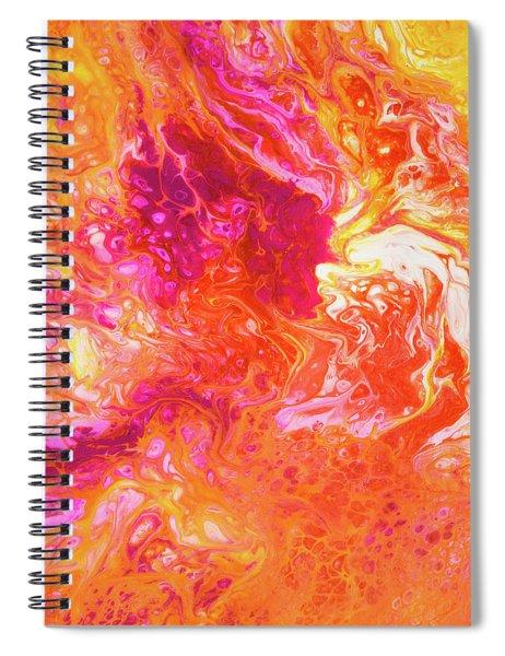 Fluid Hibiscus Spiral Notebook
