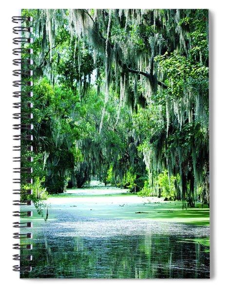 Flush With Green Spiral Notebook