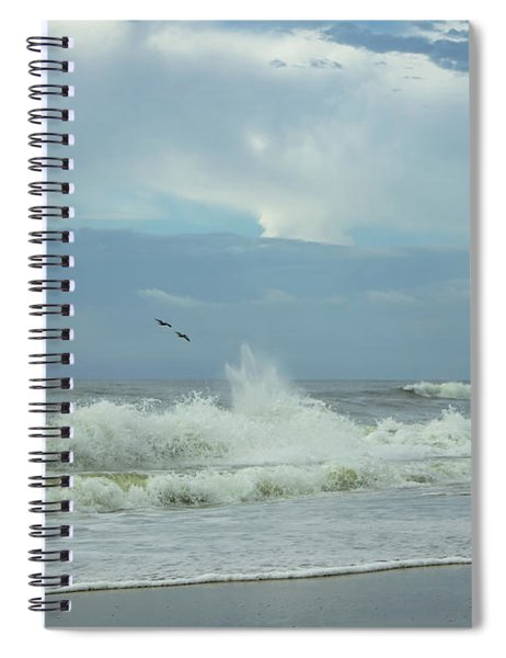 Fly Above The Surf Spiral Notebook
