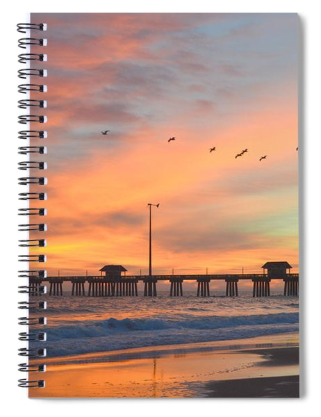 Fly Over Jennettes  Spiral Notebook
