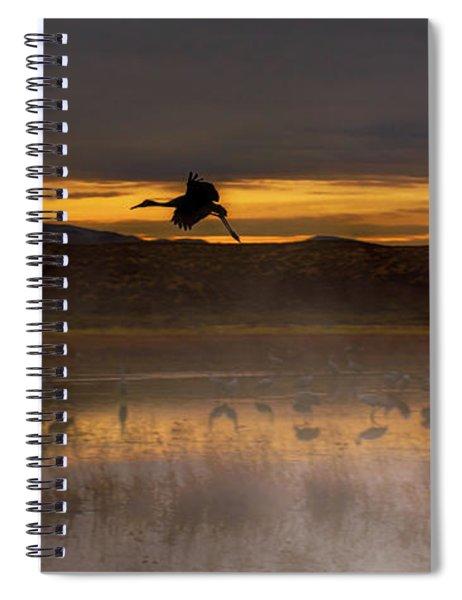 Flying Over Crane Pond Spiral Notebook