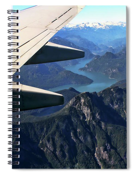 Flying Over The Rockies Spiral Notebook
