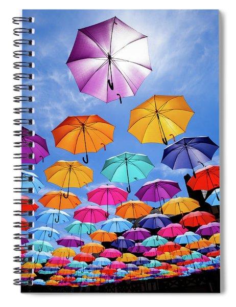 Flying Umbrellas II Spiral Notebook