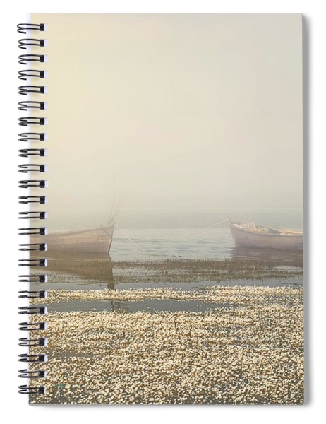 Fog On Lake Spiral Notebook