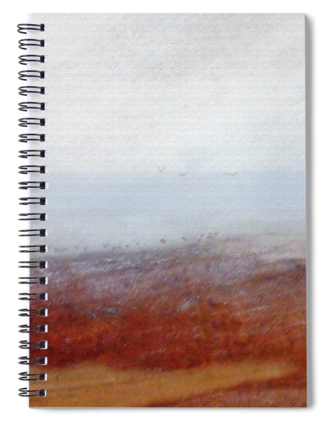 Foggy Beach Walk Spiral Notebook
