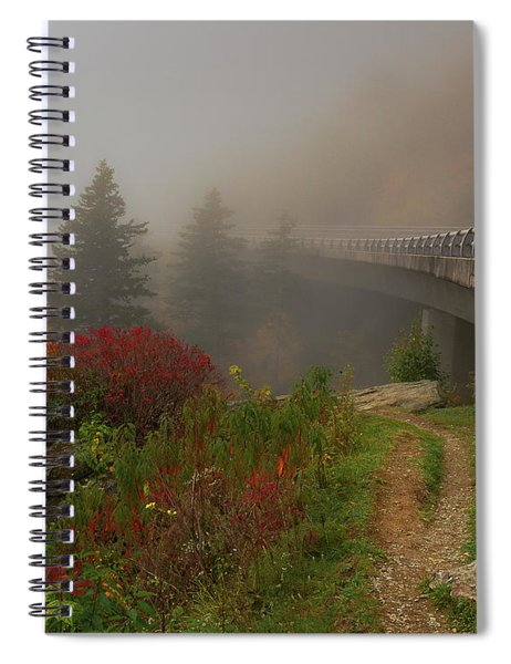 Foggy Blue Ridge Parkway - Linn Cove Viaduct Fall Spiral Notebook