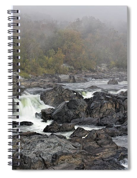 Foggy Great Falls Spiral Notebook