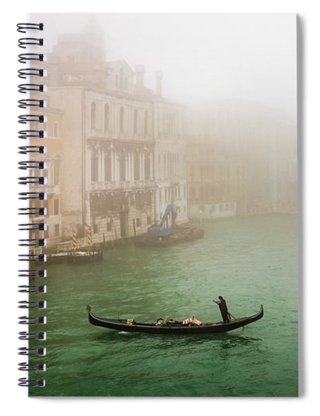 Foggy Morning On The Grand Canale, Venezia, Italy Spiral Notebook