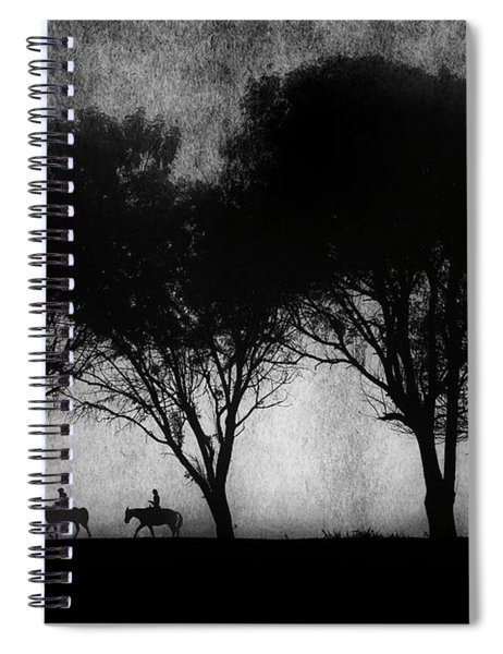 Foggy Morning Ride Spiral Notebook