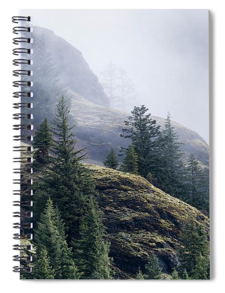 Foggy On Saddle Mountain Spiral Notebook