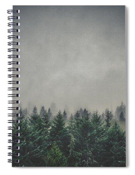 Foggy Pacific Northwest Forest Spiral Notebook