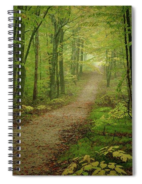 Foggy Path Spiral Notebook