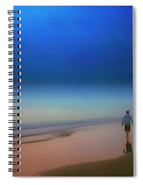 Foggy Sunrise Atlantic Ocean Single Person Walking 2730200119 Spiral Notebook