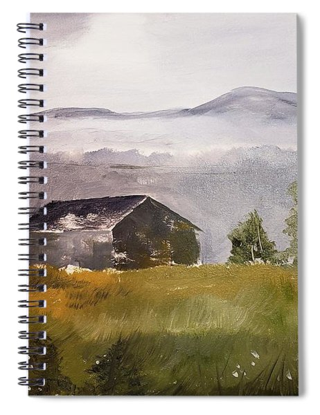 Foggy Tennessee Barn Spiral Notebook