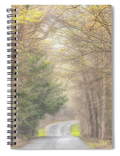Spiral Notebook featuring the photograph Foggy Way by Rod Best