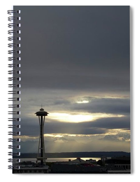 Follow The Light Spiral Notebook
