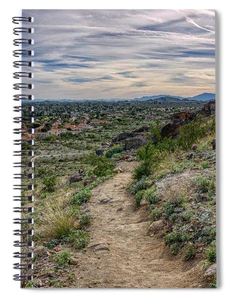 Following The Desert Path Spiral Notebook
