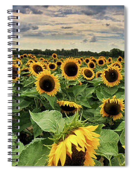 Spiral Notebook featuring the photograph Following The Sun by Andrea Platt