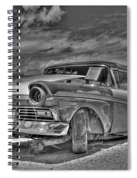 Ford Country Squire Wagon - Bw Spiral Notebook