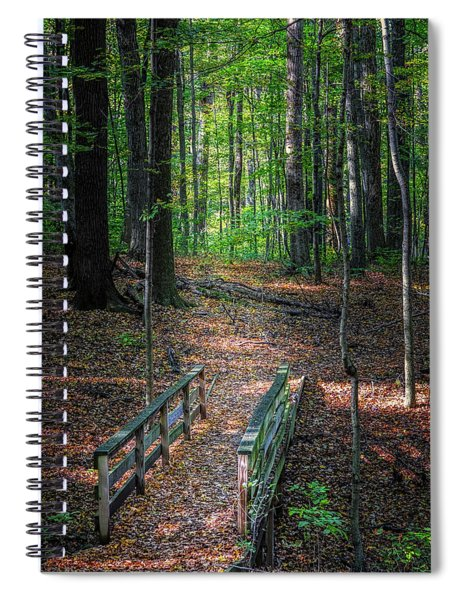Forest Footbridge Spiral Notebook