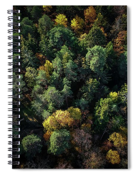 Forest Landscape - Aerial Photography Spiral Notebook