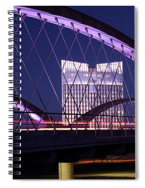 Fort Worth West Seventh Street Bridge V2 021419 Spiral Notebook