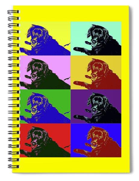 Foster Dog Pop Art Spiral Notebook
