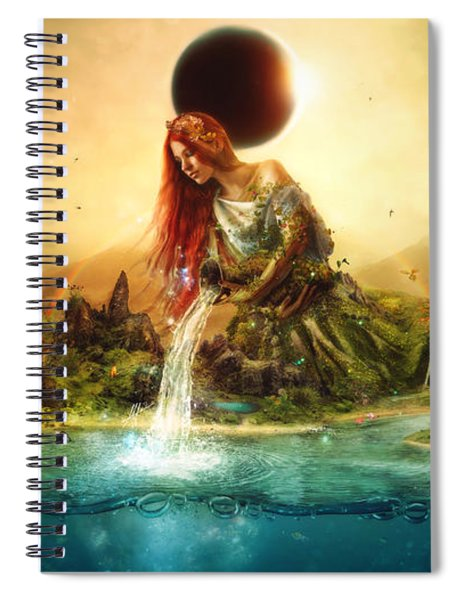 Fountain Of Eternity Spiral Notebook
