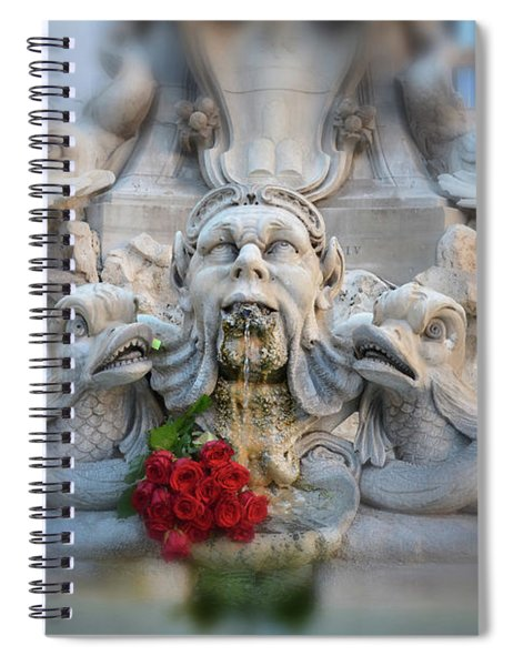 Fountain Of The Pantheon Spiral Notebook