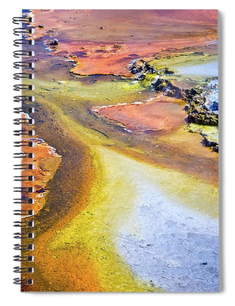 Fountain Paint Pot Spiral Notebook