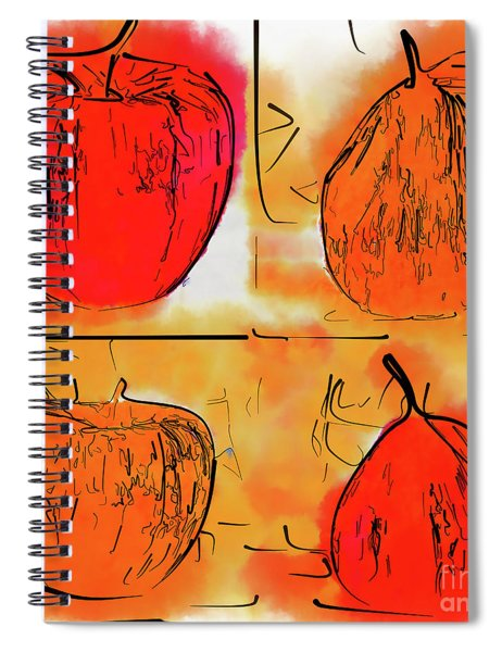Four Corners Of Apples And Pears Spiral Notebook
